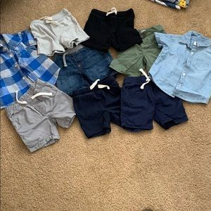Bundle of baby summer clothes